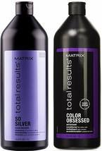 Matrix Total Results So Silver Shampoo & Color Obsessed Conditioner 33oz DUO - $49.49