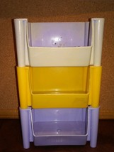 "3) Stackable Boxes Drawer Organizer 1 Compartment 3""Tx5.5""W""Wx4.5""D Vint... - $5.00"