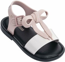 NWT MINI MELISSA Mar Sandal Bow Slipper Comfort Shoes Rubber Cute Black ... - $58.00
