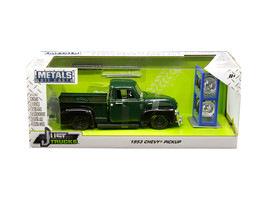 "1953 Chevrolet 3100 Pickup Truck Green with Extra Wheels ""Just Trucks\"" Series  - $42.22"