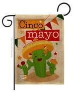 Cactus Fiesta Cinco de Mayo Burlap - Impressions Decorative Garden Flag ... - $22.97