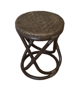 Round Rattan Wicker Stool Abby. Handmade Eco-Friendly Materials - $69.99+
