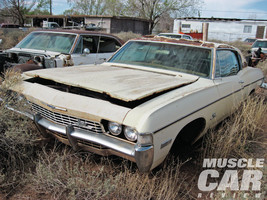1968 Chevy Impala ss junkyard 24X36 inch poster, sports car, muscle car - $18.99