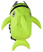 Lovely Dolphin Knapsack Kindergarten School Bag, Light Green(2319 cm)