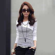 T Shirt Women Clothes 2017 Striped Tshirt Long Sleeve Tops Womens Clothi... - $17.10