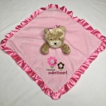 Carters Child of Mine Mommys Sweetheart Lovey Bear Pink Satin Blanket 14 inch - $19.34