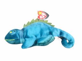Iggy Iguana Teal Ty Beanie Baby Plush Stuffed Animal Toy 1997 - $12.38