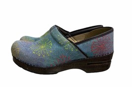 Dansko Denim Starburst Professional Clogs Shoes Boho Slip On Eu 38 - $55.19