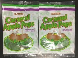TWO SEALED Tootsie Caramel Green Apple Pops 3.75 fl oz/ 106g bags 12 Lollipops image 1