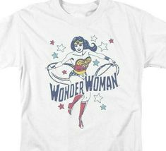 Wonder Woman t-shirt retro DC Comics Superhero 100% cotton graphic tee DCO762 image 3