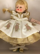 "Madame Alexander Christmas Bear Dress Doll 38535 Blonde Holiday 8"" No Ornament - $127.50"