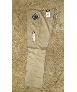 Dickies Girl's Wide Band Stretch Fabric Classic Fit Sz 17RG Khaki Pants ... - $14.80