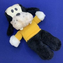 Vintage Walt Disney Plush Baby Goofy Vintage Knickerbocker Black Yellow Nutshell - $14.84