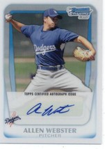 2011 Bowman Chrome Prospects Autographs Refractors #BCP89 Allen Webster ... - $13.99