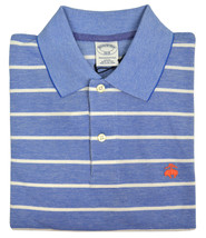 Brooks Brothers Mens Light Blue Striped Slim Fit Polo Shirt Small S 3726-3 - $55.53