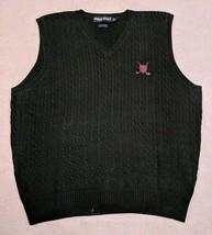 Polo Ralph Lauren Golf Crest Green Knit Sweater Vest 90's size L *RARE V... - $16.43