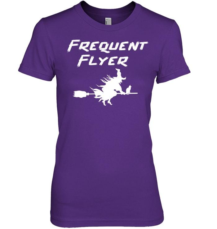 Frequent Flyer Witch Halloween Tshirt