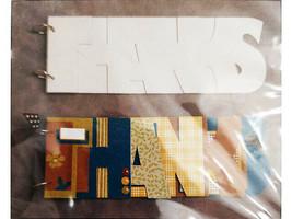 "SEI Word Chipboard Album ""Thanks"", 11.25"" x 4"""
