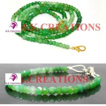 "Natural chrysoprase 3-4mm Beads Beaded 34"" Necklace 7"" Bracelet Jewelry Set - $37.08"