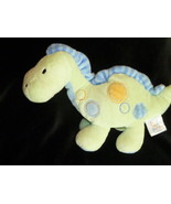 "Carter's Just One Year Green DINOSAUR 8"" Rattle Plush Stuffed Animal Inf... - $5.93"