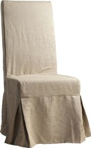 Dining Chair DOVETAIL ACTON Light Gray Hardwood Frame Linen - $689.00