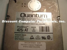 425MB 3.5in HH IDE Drive Quantum PRO 425AT Tested Free USA Ship Our Driv... - $48.95
