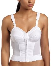 Exquisite Form Women's Front Close Longline  Bra 5107530, White, 44DD