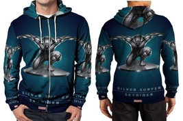 An item in the Fashion category: Silver Surfer Skyrider Men's Zipper Hoodie