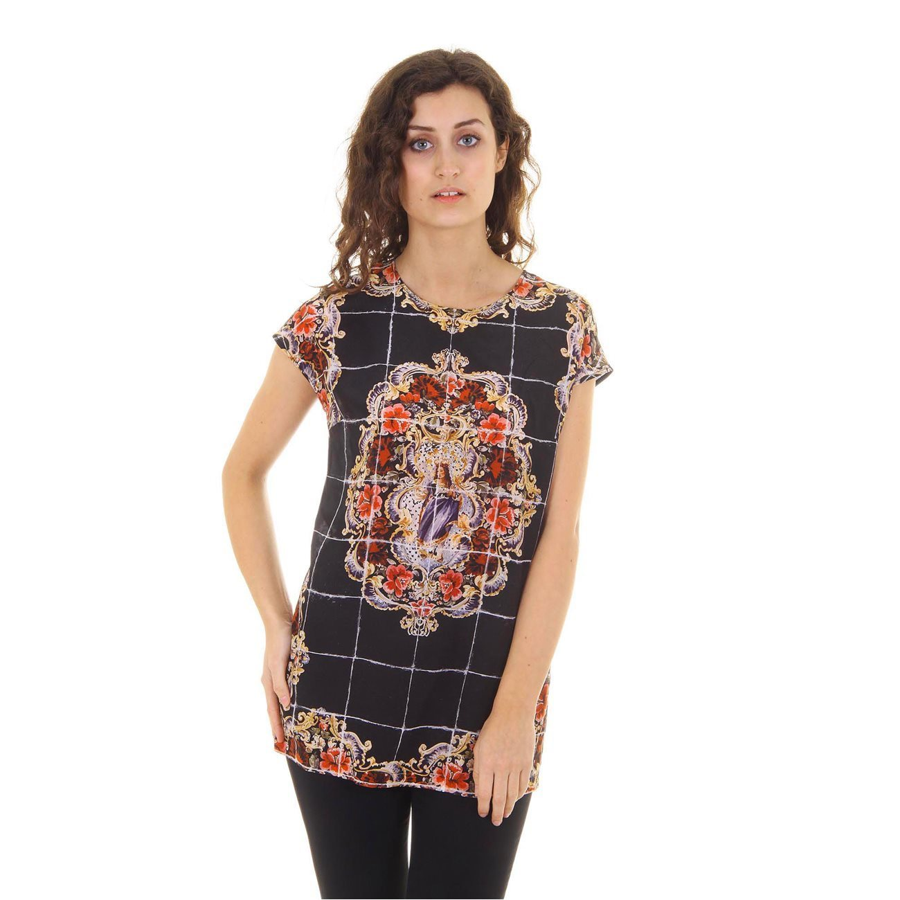 Primary image for Dolce & Gabbana ladies top short sleeve F7Q08T FP15Y X0800