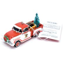 Kurt S Adler Budweiser Delivery Pickup Truck with Tree Christmas Ornament AB2201 image 3