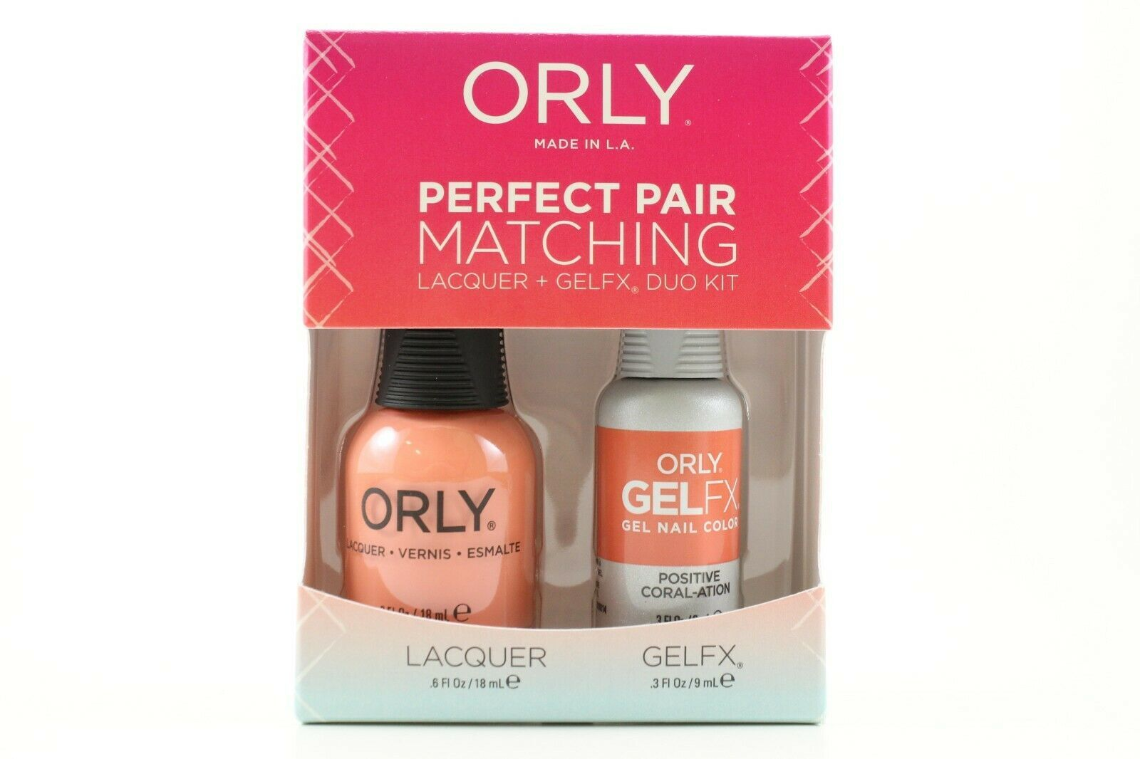 Primary image for 3100014 - Orly Gel FX .3oz + Nail Lacquer .6oz Combo - Positive Coral-ation