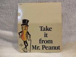 Vintage 1980's Planters Peanut Mr Peanut Cardboard Small Shelf Sign - $4.95