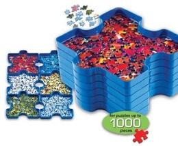 Puzzle Jigsaw Sort and Go Accessory 1000 pieces 6 Stackable Tray Kids Ho... - $16.13