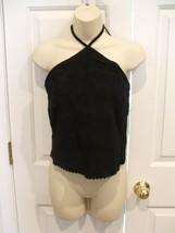 NEW IN PKG  Newport News Stylework black suede fully lined HALTER top sz 8 - $51.23