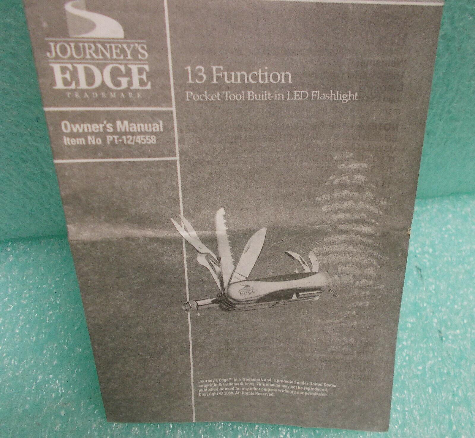 MTG Journey's Edge 13 In 1 Function Pocket Tool #PT-12/4558 UPC:044902045585
