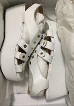 e6890b395600 robert clergerie White Wedge Sandal leather