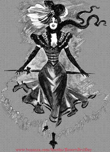 Victorian French lady burlesque dancer printable art png jpg digital download