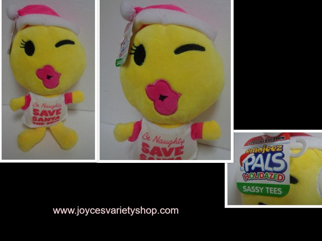 Primary image for Emojeez Be Naughty Save Santa Plush Doll NWT Holidazed Pals Special Edition