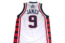 Lebron James #9 Team USA Men Basketball Jersey White Any Size image 5
