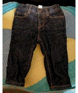 Baby Gap Girls Sz 3-6 Months Polka Dot Lined Pull On Snap 5 Pocket Jeans - $12.00