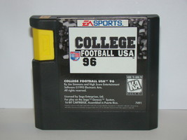SEGA GENESIS - COLLEGE FOOTBALL USA 96 (Game Only) - $12.00