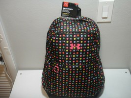 Under Armour Girls Strom 1 Favorite BackPack Padded Laptop Sleeve Polka Dots  - $51.38