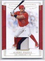 2019 Panini National Treasures Prime #140 Albert Pujols /10 Angels NM-MT... - $39.99