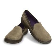 AnyWeather Suede Loafer Khaki W5 Crocs - $14.02