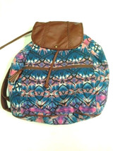 Mossimo Supply Co Fabric Backpack Drawstring Blue Purple Tribal - $17.99
