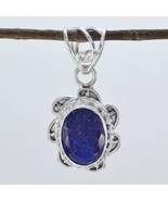 Blue 925 Sterling Silver genuine splendid Indian Jasper gemstones Pendan... - $22.06