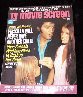 TV And Movie Screen Magazine October 1974 Elvis Presley Sonny & Cher Loretta Lyn