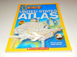 NATIONAL GEOGRAPHIC KIDS- UNITED STATES ATLAS BOOK- GOOD - W15 - $7.74
