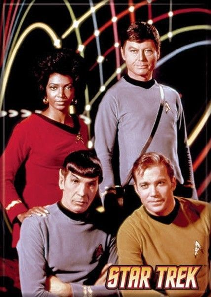 Primary image for Star Trek: The Original Series Uhura, Spock, McCoy and Kirk Magnet, NEW UNUSED