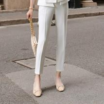 Women's High Quality Solid White Blazer Jacket Business Suit image 9